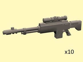 28mm SciFi SK-12 Sniper Rifle  in Smoothest Fine Detail Plastic