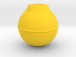 Ball strike in Yellow Processed Versatile Plastic