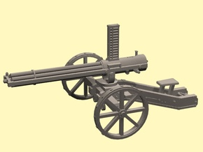 Gatling Gun in Smoothest Fine Detail Plastic