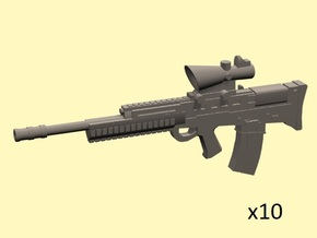 28mm scale L85 assault rifle in Frosted Extreme Detail