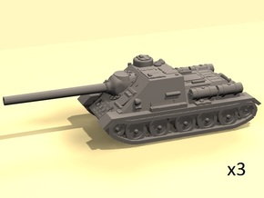 1/160 SU-100 tank hunter in Smooth Fine Detail Plastic