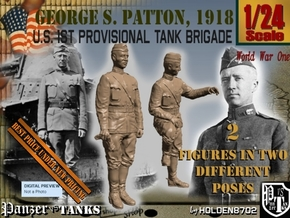 1-24 George S Patton 1918 in Smooth Fine Detail Plastic