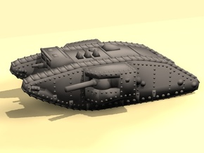 1/160 Mk.II Male tank in White Strong & Flexible