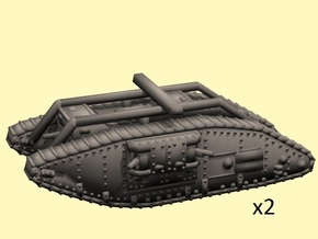 1/160 scale Mark V Female in Smooth Fine Detail Plastic