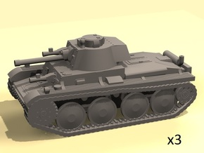 1/160 Pz 38(t) tank in Smooth Fine Detail Plastic