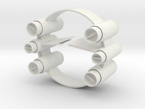 1/72 Eta-2 Hyperdrive Space Dock in White Natural Versatile Plastic