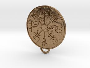 Vegvisir pendant in Natural Brass