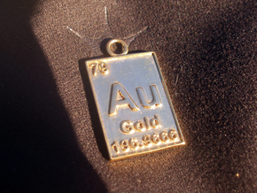 Gold Periodic Table Pendant in 14K Yellow Gold