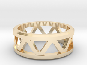 Corrugated Ring  in 14k Gold Plated Brass: 5 / 49