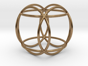"""Hexasphere 1.8"""" (no bale) in Natural Brass"""