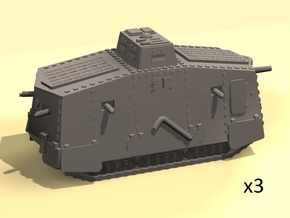 1/220 WW1 A7V tank in Smooth Fine Detail Plastic