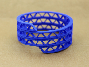 Corrugated Wrap Bracelet in Blue Strong & Flexible Polished