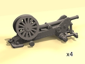 1/220 Bange cannons for train transport x4 in Frosted Ultra Detail