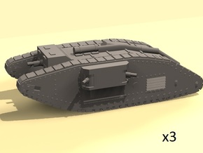1/220 WW1 Mk.IV Female tank in Smooth Fine Detail Plastic
