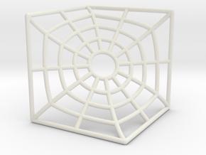 """D"" Surface Hexagonal Tile in White Natural Versatile Plastic"