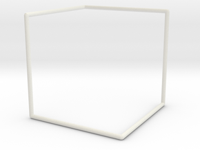 """D"" Surface Tile Frame in White Natural Versatile Plastic"