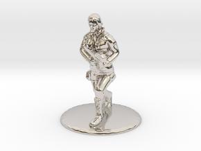 SG Female Soldier Running 35 mm new in Rhodium Plated Brass