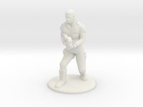 SG Male Soldier Creeping 35 mm new in White Natural Versatile Plastic
