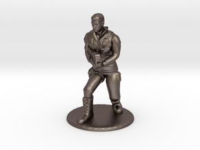 SG Male Soldier Creeping 35 mm new in Polished Bronzed Silver Steel