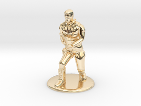 SG Male Soldier Creeping 35 mm new in 14k Gold Plated Brass