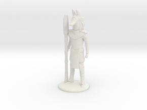 Jackal Guard at Attention 35 mm new in White Strong & Flexible