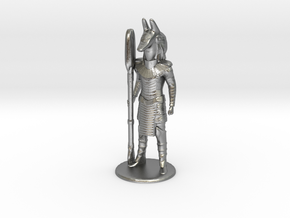 Jackal Guard at Attention 35 mm new in Natural Silver