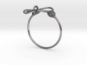 Anello Kobke Ghfghyjyuyuuuu in Polished Silver (Interlocking Parts)
