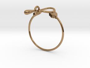 Anello Kobke Ghfghyjyuyuuuu in Polished Brass (Interlocking Parts)