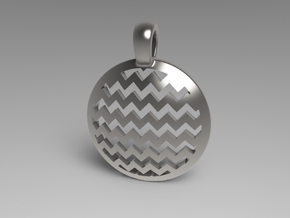 Chevron Pendant in White Natural Versatile Plastic