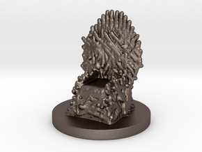 Game of Thrones Risk Piece Single - Iron Throne in Polished Bronzed Silver Steel