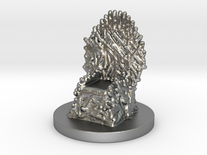 Game of Thrones Risk Piece Single - Iron Throne in Natural Silver
