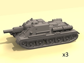 1/144 SU-122 SPG (3) in White Strong & Flexible