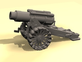 28mm Steampunk Heavy Mortar v.2 in Smooth Fine Detail Plastic
