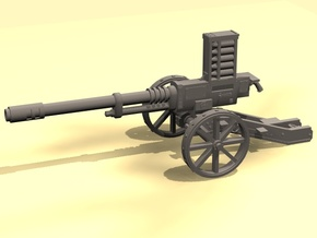 28mm Steampunk Automatic Cannon in White Strong & Flexible