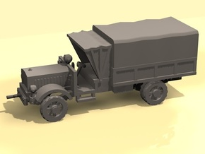 1/100 WW1 Light Truck with tent in White Strong & Flexible