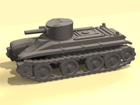 1/100 scale BT-2 tank in Smooth Fine Detail Plastic