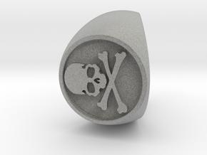Custom Signet Ring 50 in Metallic Plastic