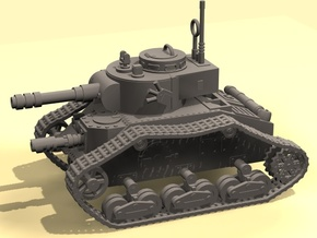 15mm Space Empire Tank in White Processed Versatile Plastic