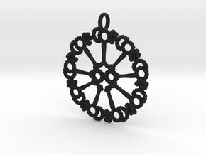 Axoneme Pendant - Science Jewelry in Black Natural Versatile Plastic