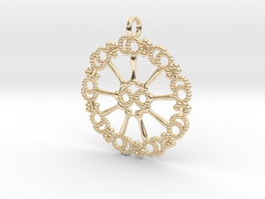 Axoneme Pendant - Science Jewelry in 14k Gold Plated Brass