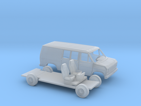 1/160 1975-91 Ford E-Series Delivery Van Kit in Smooth Fine Detail Plastic