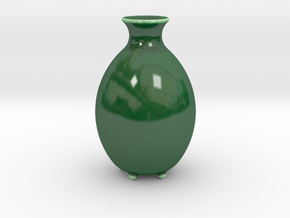 "Vase ""Buton"" in Gloss Oribe Green Porcelain"
