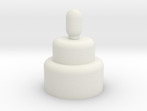 cake in White Natural Versatile Plastic: Medium