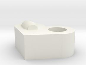 Valentine's Day in White Natural Versatile Plastic: Medium