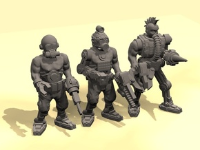 28mm Tech cult cyborgs in Smooth Fine Detail Plastic