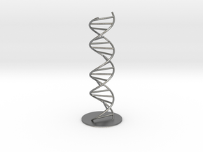 DNA Molecule Model Pedestal, Several Size Options in Natural Silver: 1:10