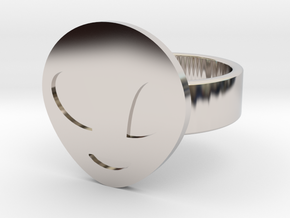 Alien Ring in Rhodium Plated Brass: 10 / 61.5