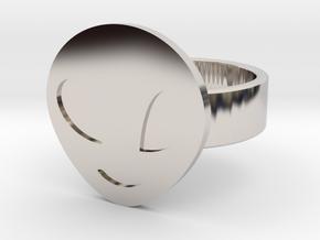 Alien Ring in Rhodium Plated Brass: 10 / 61.5