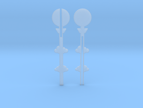 Cake Topper - Clouds & Balloon #2 in Smooth Fine Detail Plastic