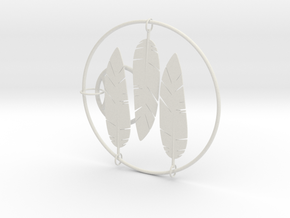 Feather in White Natural Versatile Plastic: Small